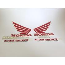 Kit Adesivos Faixas Moto Honda Cb 300 2011 Preta