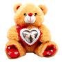 Urso Marrom Porta Retrato Coração Dia Namorados