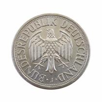 Moeda 1 Deutsche Mark 1971 J Alemanha Muito Bem Conservada