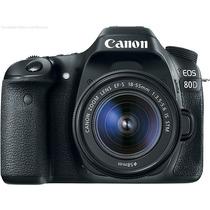 Câmera Dslr Profissional Canon Eos 80d Kit 18-55mm Is Stm