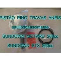 Kit Pistão Moto Sundown Motard 200cc E Stx 200cc