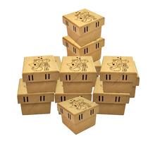 100 Caixas De Noivos Corte Desenho 7x7x5,5 Passa Fita Mdf