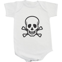 Body / Camiseta Caveira Masculina - Rock And Roll
