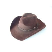 M - Chapéu Country Dallas Com 9cm De Aba Cor Marrom