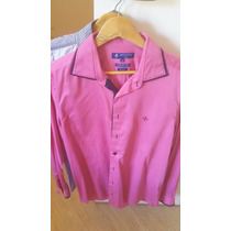 Camisa Dudalina Rosa Slim 4 - Alg Egipcio Super70/1 Original