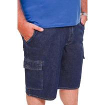 Bermuda Jeans Masculina Plus Size Tamanho Grande 50 Ao 68