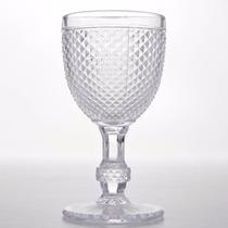 Taças Bico De Jaca Transparente Em Vidro Agua E Vinho Com 6