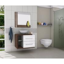 Gabinete Armário Para Banheiro Com Pia Milão Branco_avelã