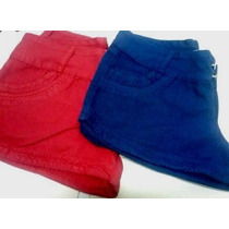 Short Jeans Feminino Colorido