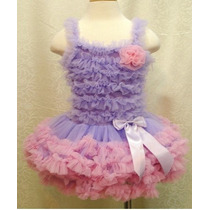 Vestido Infantil Tutu Bailarina Festa