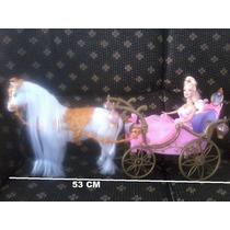 Carruagem Princesa Cavalo C/movimento E Som 53 Cm- Fret16