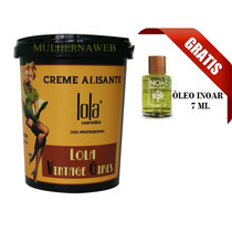 Lola Hair Vintage Girls Creme Alisante 850gr + Óleo Inoar