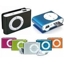 Mini Mp3 Player Shuflle+fone Ouvido+cabo Dados Frete Barato