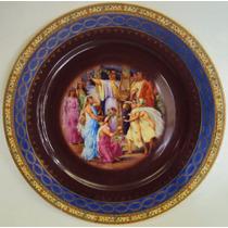 Prato Alemão Porcelana Omeco Com Cena Do Imperador Nero