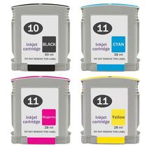 4 Cartuchos Hp 10 Black Hp 11 Color Compatível 100% Novo