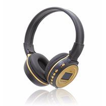 Fone De Ouvido Headphone Com Visor Lcd / Sd Card / Fm / Mp3