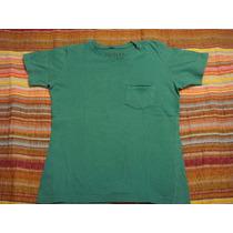 Blusa Camiseta Camisa Basica Verde Tam. 10 Anos Gola V