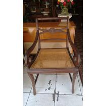 Cadeira Braços - Jacarandá E Palhinha- Design