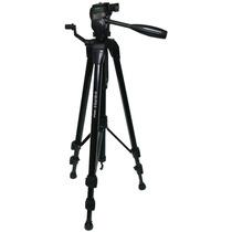 Tripé Profissional Para Nikon Canon Sony Suporta 2,3kg 1,57m