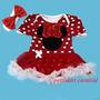 Vestido Fantasia Minie Mouse Importado Bebê Pronta Entrega