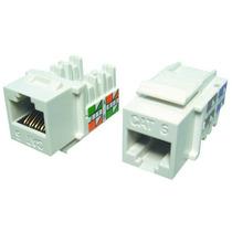 Conector Rj45 Femea Cat6 Branco Keystone R$69,99 Pacote C/10