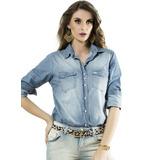 Camisa Jeans Feminina Principessa Mara Frete Grátis