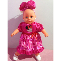 Boneca Bebê Minnie Rosa Disney Fala Menina Exclusiva Pelúcia
