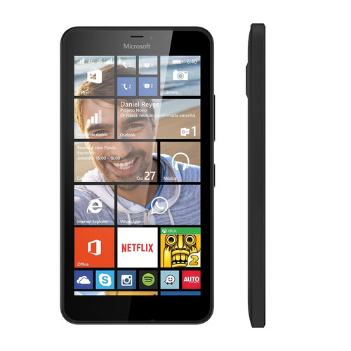 Celular Microsoft Lumia 640 Dual Sim Dtv Preto Seminovo