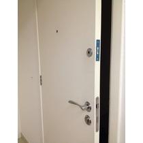 Porta Entrada Madeira Residencial Branco C/ Chave Multiponto