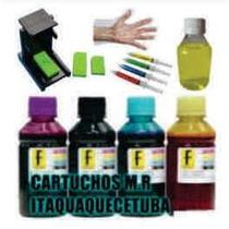 Kit Tinta Recarga Cartucho Hp + Snap 664 122 662 74 60 Xl