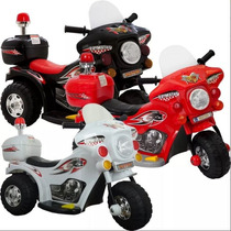 Mini Moto Eletrica Infantil Triciclo Criança Policia Menino