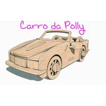 Carro Carrinho Conversível Para Polly Em Mdf Poly Pocket