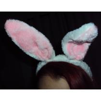 Tiara Coelhinha Em Pelúcia Arco Headband Orelhas De Coelha