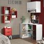 Conjunto Home Office Paradiso Madesa Branco/vermelho