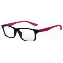 Armação De Óculos De Grau Colorful Cor Rosa + Brindes