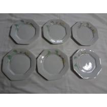 Conjunto Pratos Sobremesa Porcelana Schmidt 6 Peças Prisma