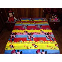 Manta Para Cama Casal Colorida Mickey E Minnie Baby Disney