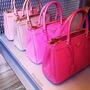 Maravilhosa Bolsa Saffiano Top Pink Fuchsia Temos Birkin