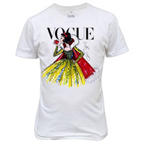 Camiseta Ou Baby Look Branca De Neve