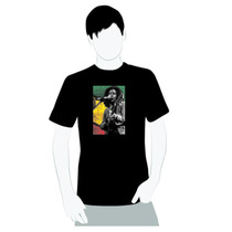 Camisa Camiseta - Bob Marley Cores Jamaica - Reggae Cd Mp3