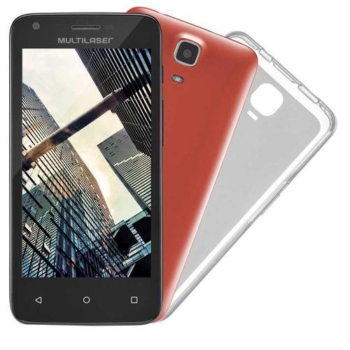Smartphone Multilaser Ms45s Dual Chip Preto Tela 4.5 5mp 8gb