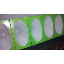 Corneta Oval Retangular Aba Quadrada Aluminio Fundido