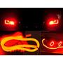 Par Barra Led Flexível Lanterna+ Seta Luz Drl 12v Carro Moto
