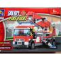 Caminhão Bombeiro Kazi 244 Peças Para Montar Similar Lego
