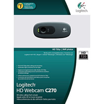Câmera Webcam C270 Logitech Hd 720p Pc/notebook/mac/window