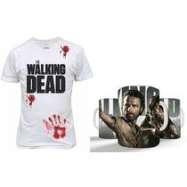 Kit Camisetas + Caneca The Walking Dead Presente