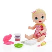 Brinquedo Boneca Baby Alive Lanchinho Divertidos Loira B5013