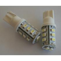 02 Lampadas Led Automotiva Cor Branco(soquete T10-14leds)
