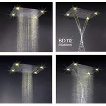 Ducha Especial Cromoterapia + Cascata + Cr Bd012 (60x80cm)