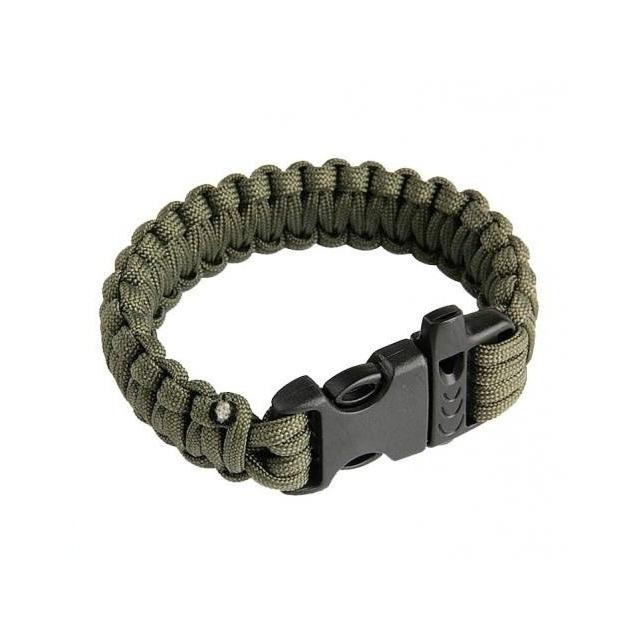 Bracelete Pulseira Tatico Sobrevivência Paracord 550 Verde